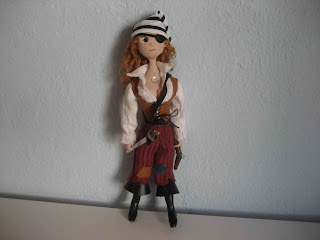 woman pirate doll eyepatch