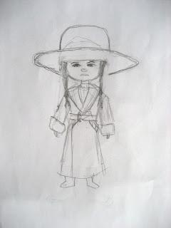 mattie ross doll sketch