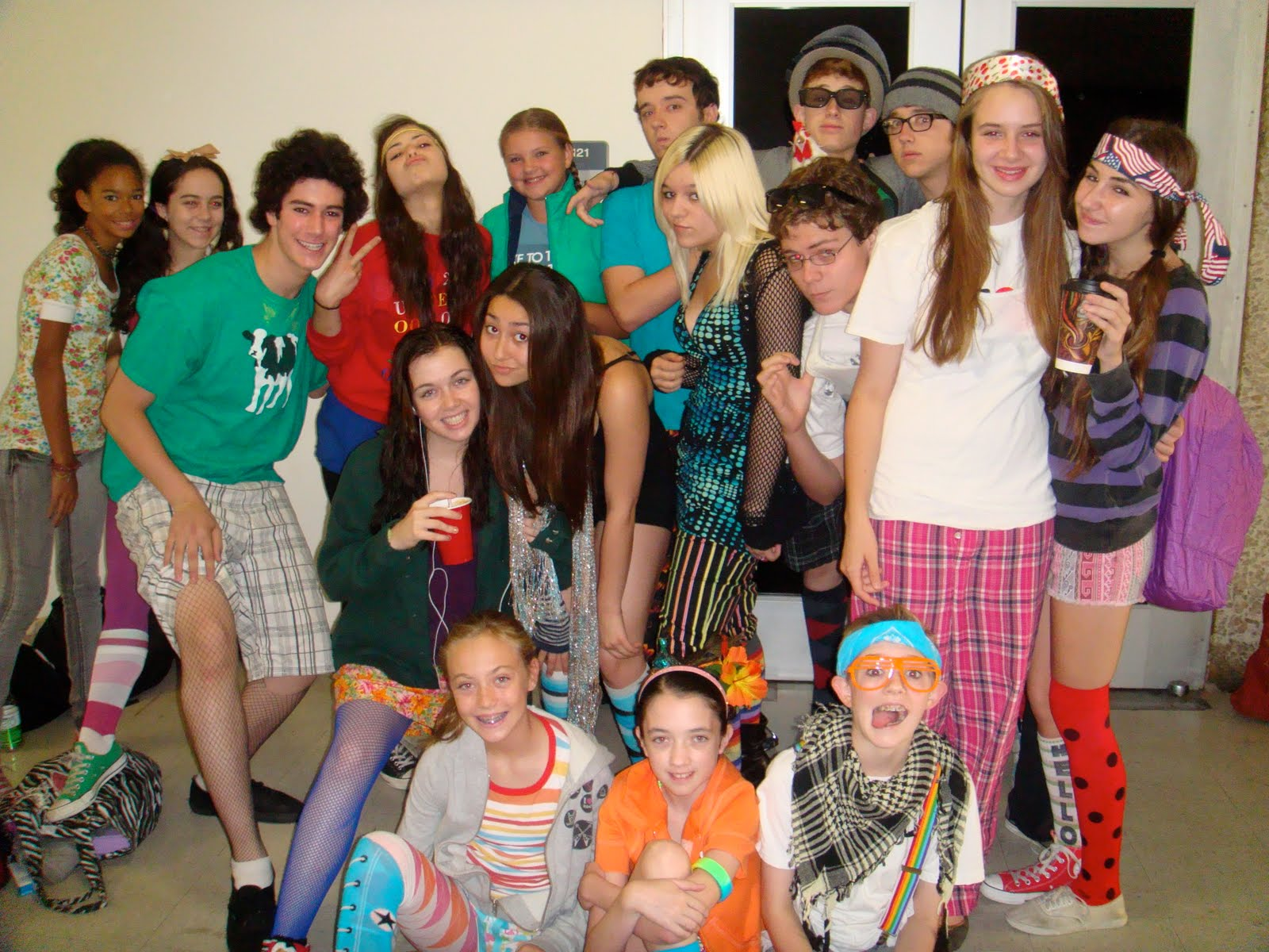 Backstage At The Teenage Drama Workshop Wacky Tacky Dress