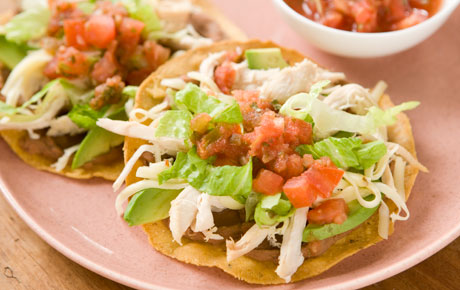 ... Archives: Grilled Chicken and Mushroom Tostadas with Tomato Chutney