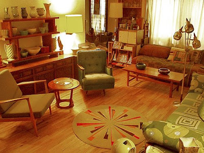 Whimsical world of laura bird time warp retro d cor for 70s apartment design