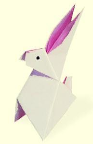 วิธีพับกระต่ายกระต่าย