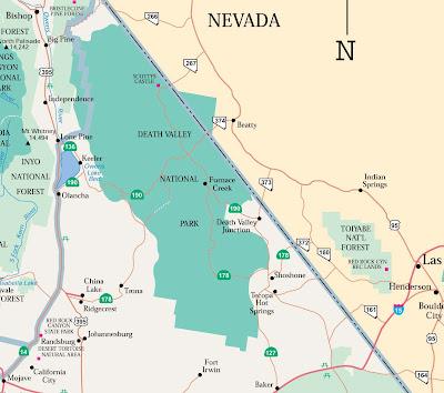 แผนที่ อุทยานแห่งชาติเดท วัลลี่ย์ (Death Valley National Park)
