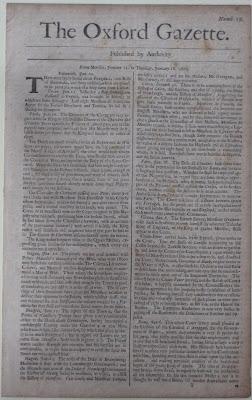 หนังสือพิมพ์ ฉบับแรกของอังกฤษ