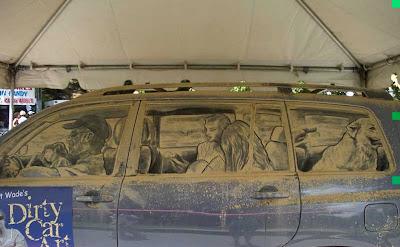 ศิลปะ ใน ศิลเปอะ บนรถฝุ่นเคอะ