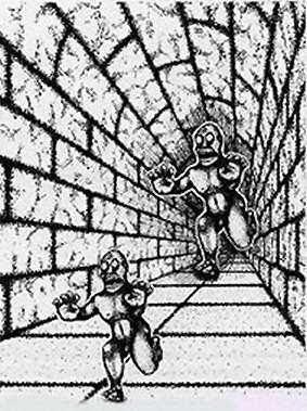 ภาพลวงตา ยักษ์ใหญ่ ไล่ ยักษ์เล็ก (Monsters Illusion)