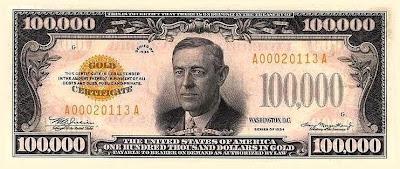 ธนบัตรหนึ่งแสนดอลลาร์