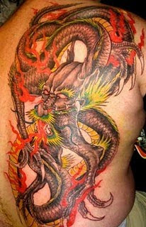 full back dragon tattoo design