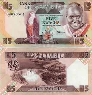 Zambia - 5 Kwacha 1980-88 - Pick 25