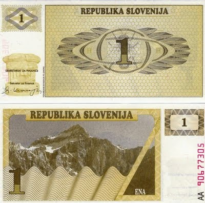 Eslovenia 1 Tolar 1990 - Pick 1