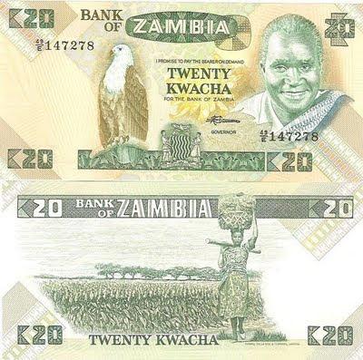 Zambia 20 Kwacha 1980 - Pick 27