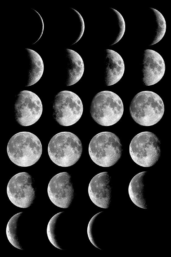 pictures of moon phases in order. 8 moon phases in order