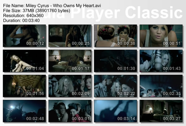 formato mp4 artista miley cyrus videoclip who owns my heart tiempo 3 ...