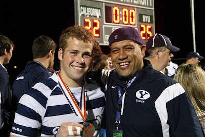 Hooker Joey Mount and Coach Wayne Tarawhiti, National Champs and all smiles