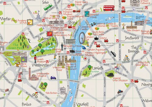 london attractions map – Map Of Central London For Tourists