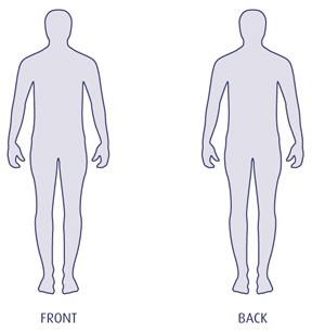 blank human body outline template