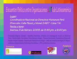 encuentro con lesbianas de la Región Andina