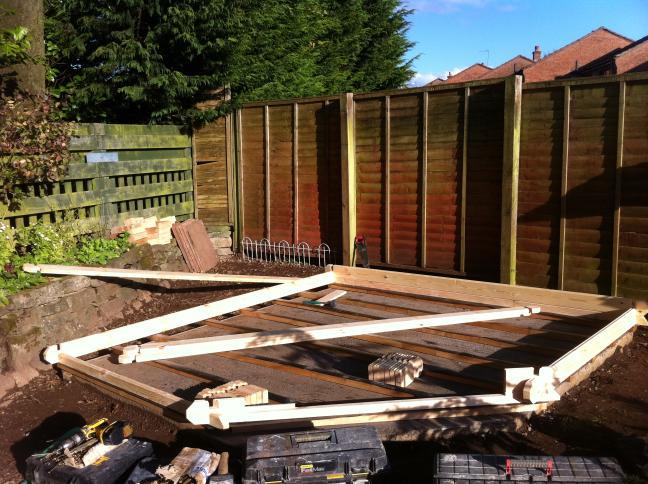 Strathaven log cabin installation garden office assemby for Garden office norfolk