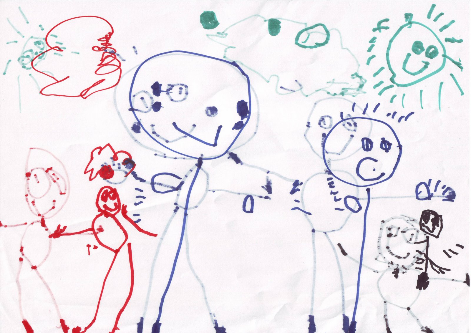 ¿Que es una falacia? Dibujo+Gloria+familia