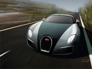 2008 Bugatti Type 12-2 Streamliner Concept Design by Racer X Design