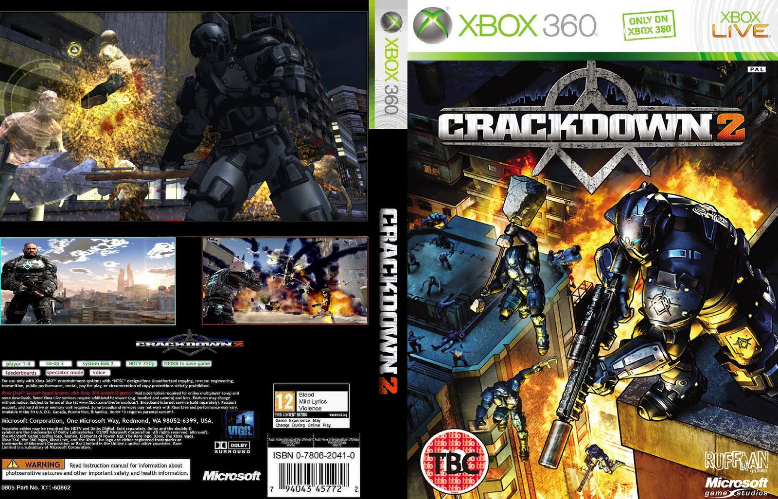Xbox 360 Covers Crackdown 2