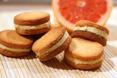 Pink Grapefruit Sandwich Cookies | Smell & Taste are my memory
