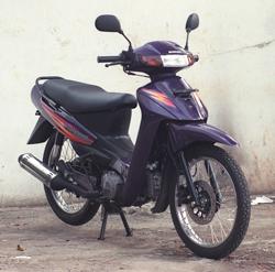 Suzuki Shogun 110cc 1997 warna ungu tua