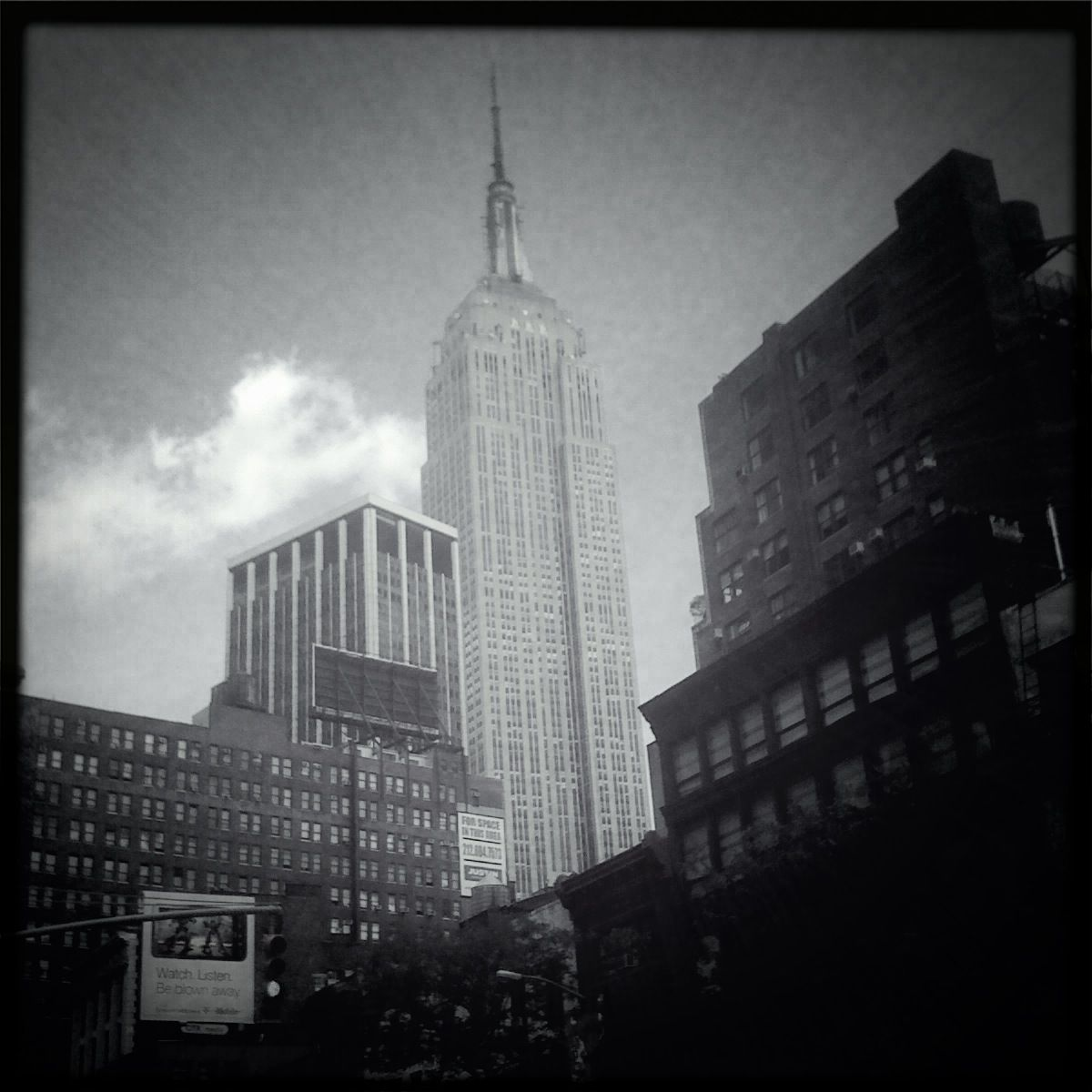 State Building At Night Black And White Empire State Building From