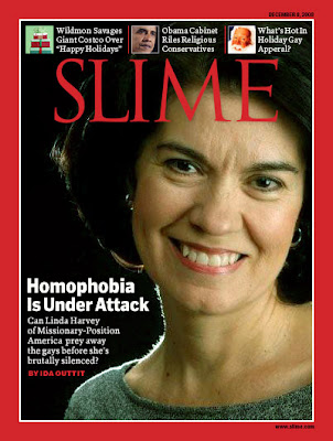 Linda Harvey on the cover of TIME magazine -= 'Homophobia under attack'
