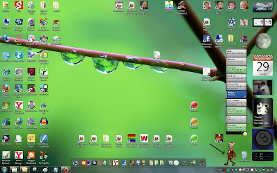 My Windows 7 Desktop, showing Windows Dancer LE - Kris