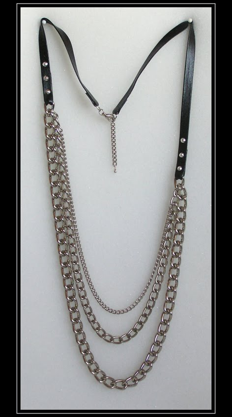 Heavy Metal and Leather Necklace (art.2.14)