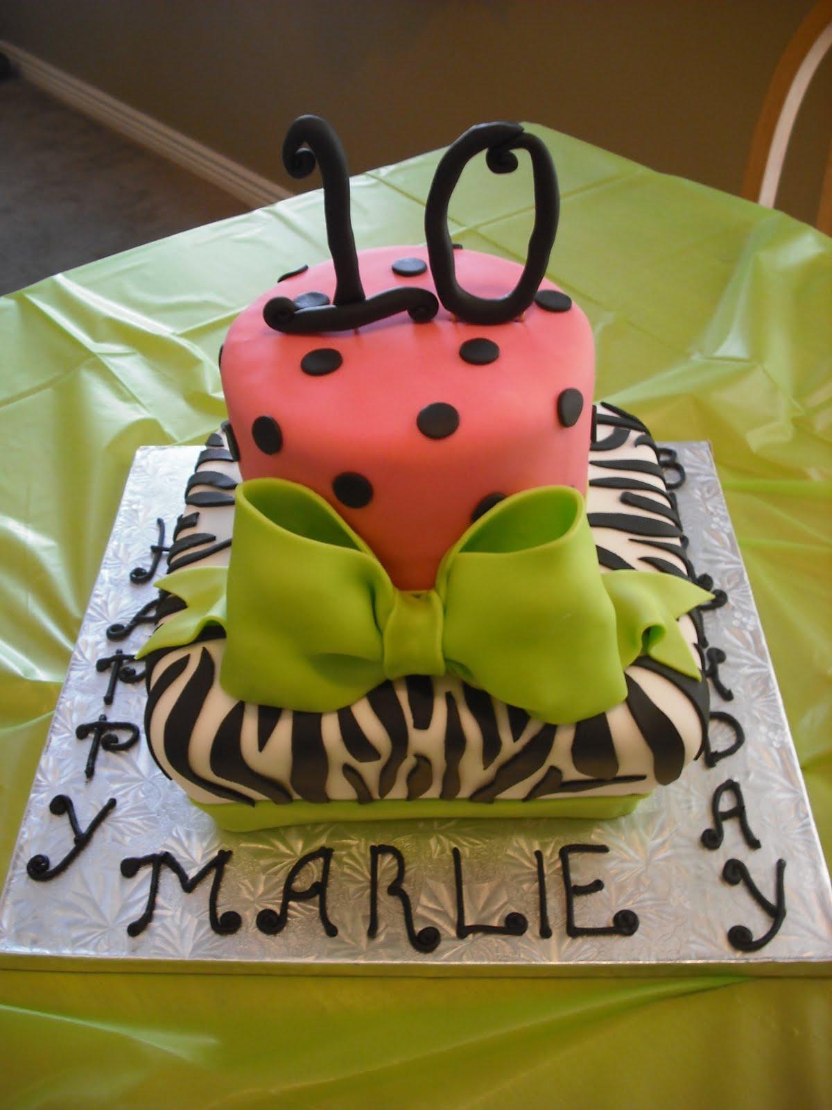 Sprinklebelle Cakes: Zebra Print Birthday Cake