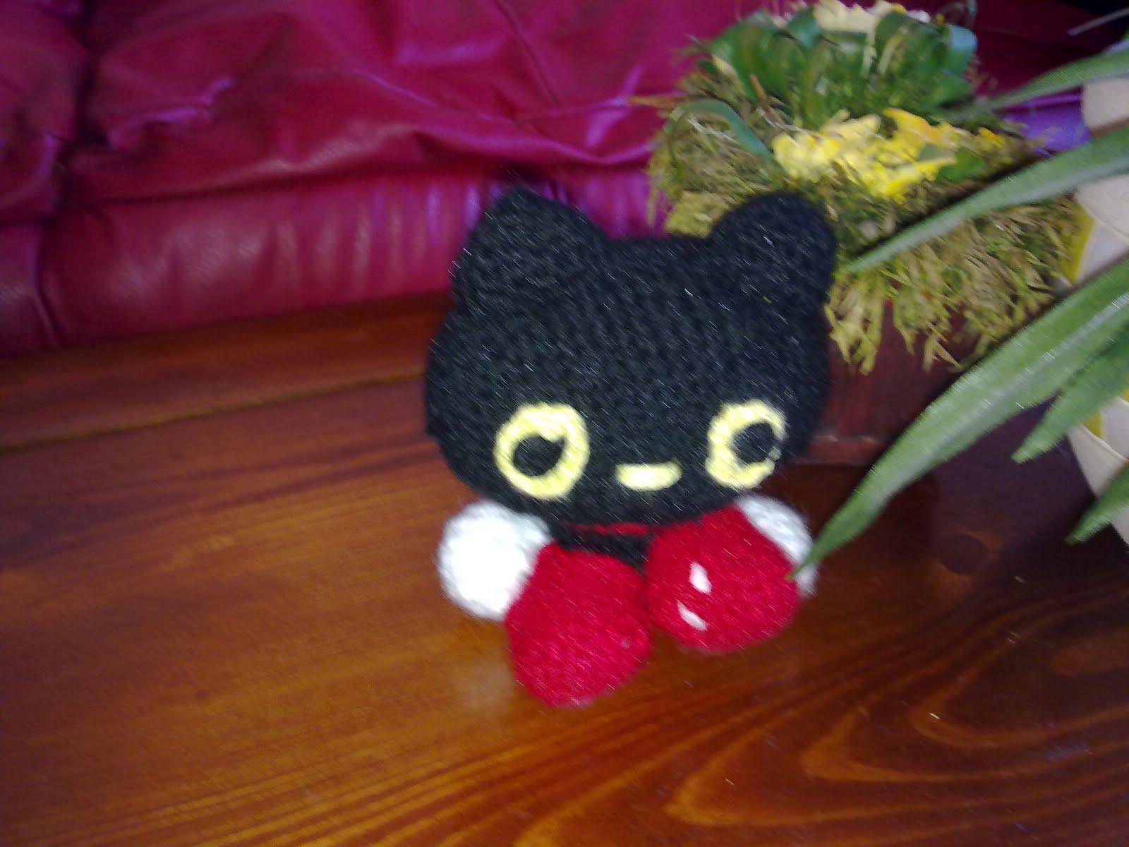 Amigurumi Gato Negro : Amigurumis con yokita: gato amigurumi negro terminado