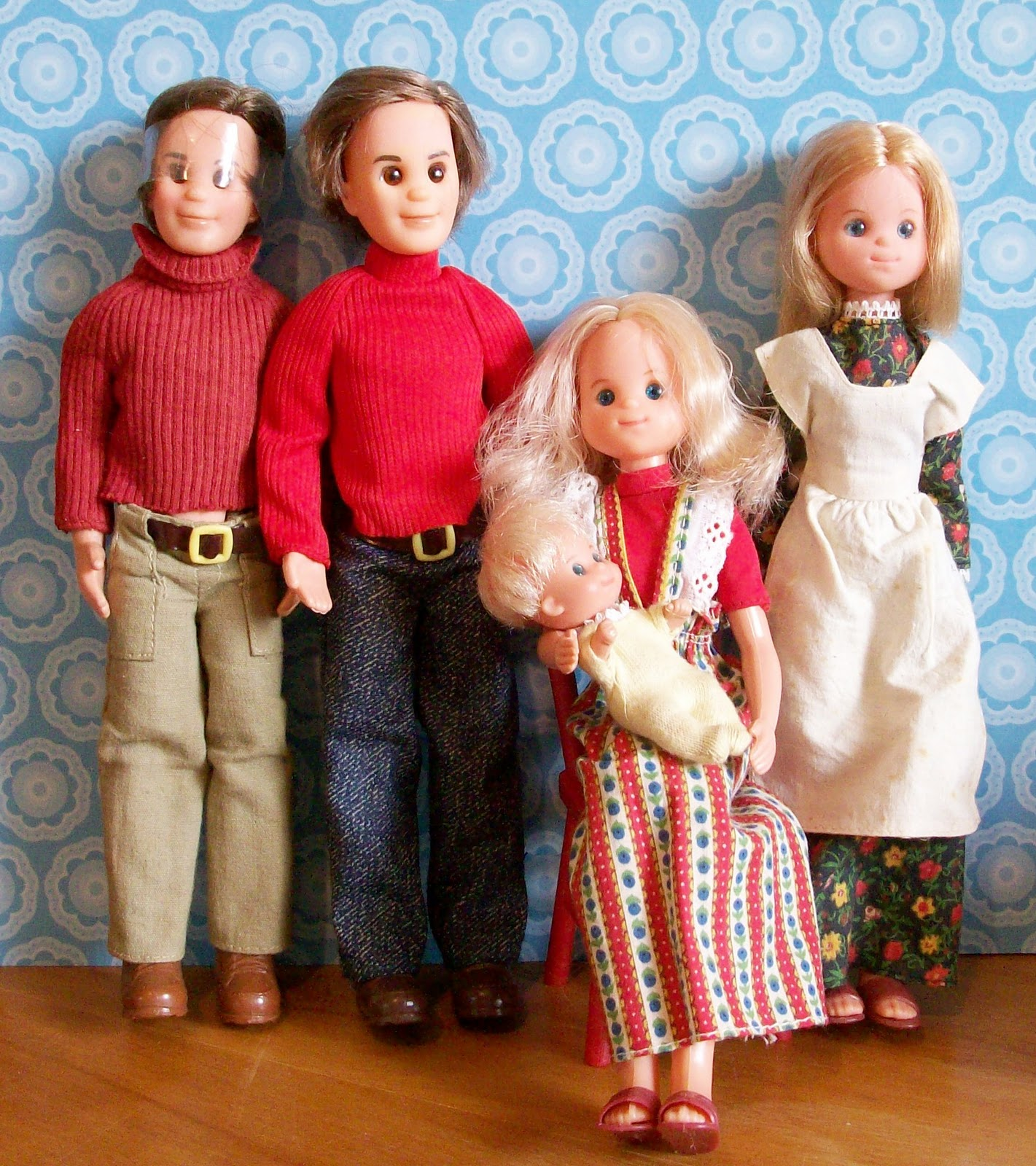 family and dolls