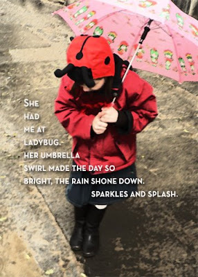 ladybug and umbrella rainy day pic