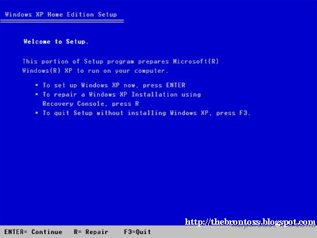 Cara Me-Repair (Memperbaiki) Instalasi Windows Xp