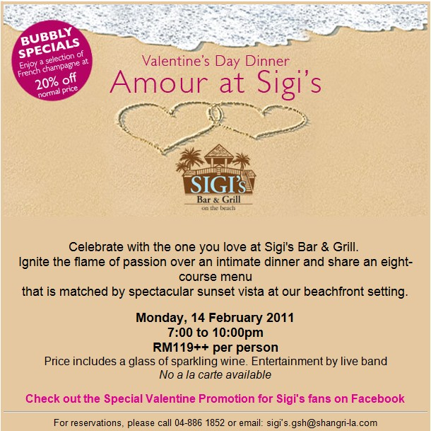 Amour At Sigi S Valentine S Day Dinner Taste Iest Penang Food Blog