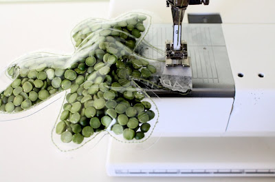 Split Pea Shamrocks crafty sewing tutorial for St Patrick's Day from MADE Everyday with Dana