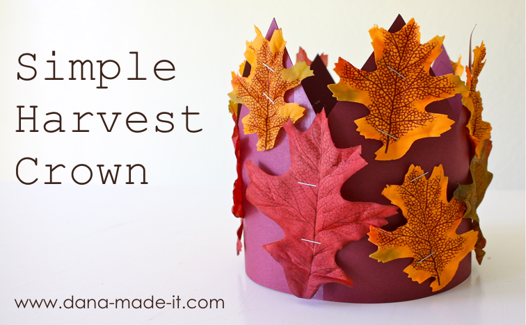 Harvest crown made everyday for Harvest crafts for kids