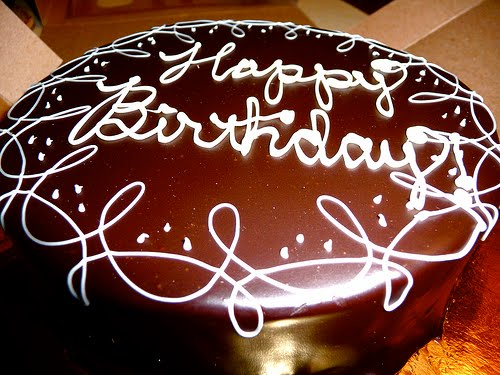 "A ""Happy Birthday"" message is always best written in chocolate cake"