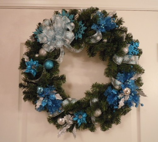 Blue And Silver Christmas On Pinterest Coral Decorations
