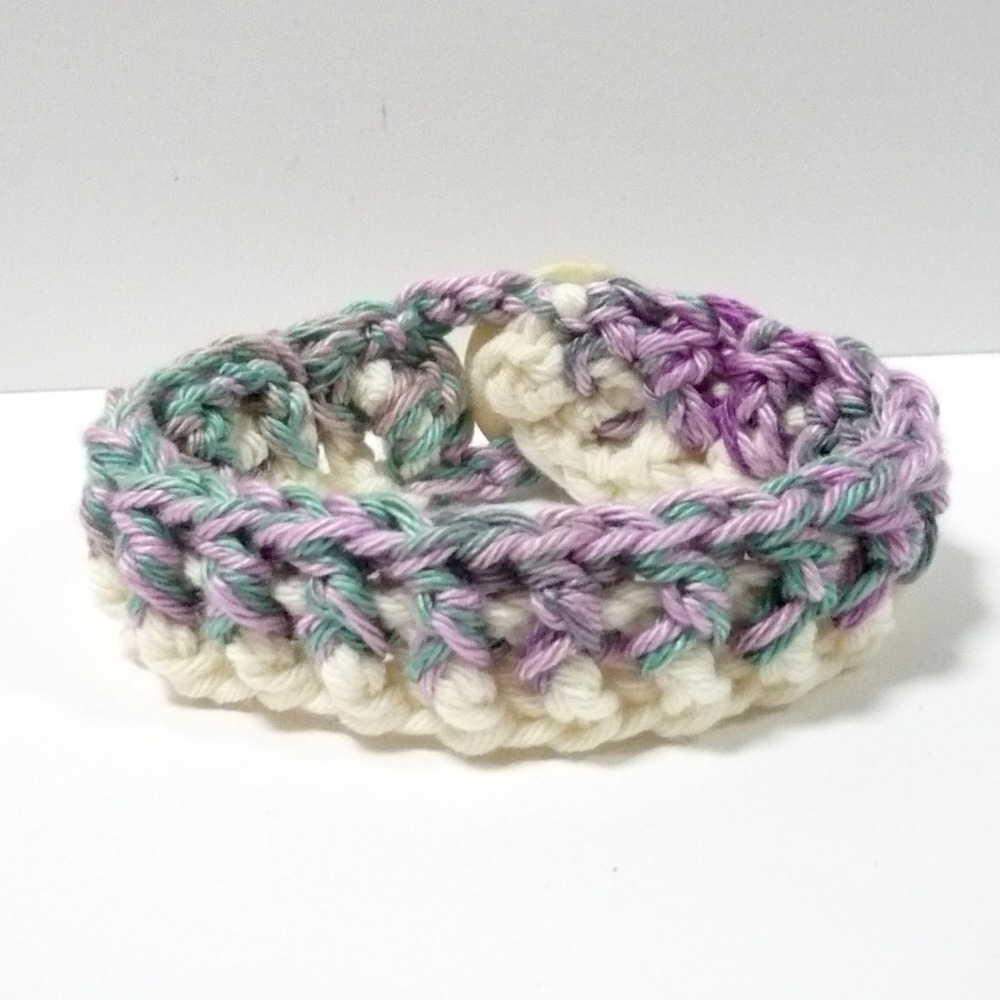 Crocheting With Cotton Yarn : ... For You: Simona - A Crocheted Bracelet in mercerized cotton yarn