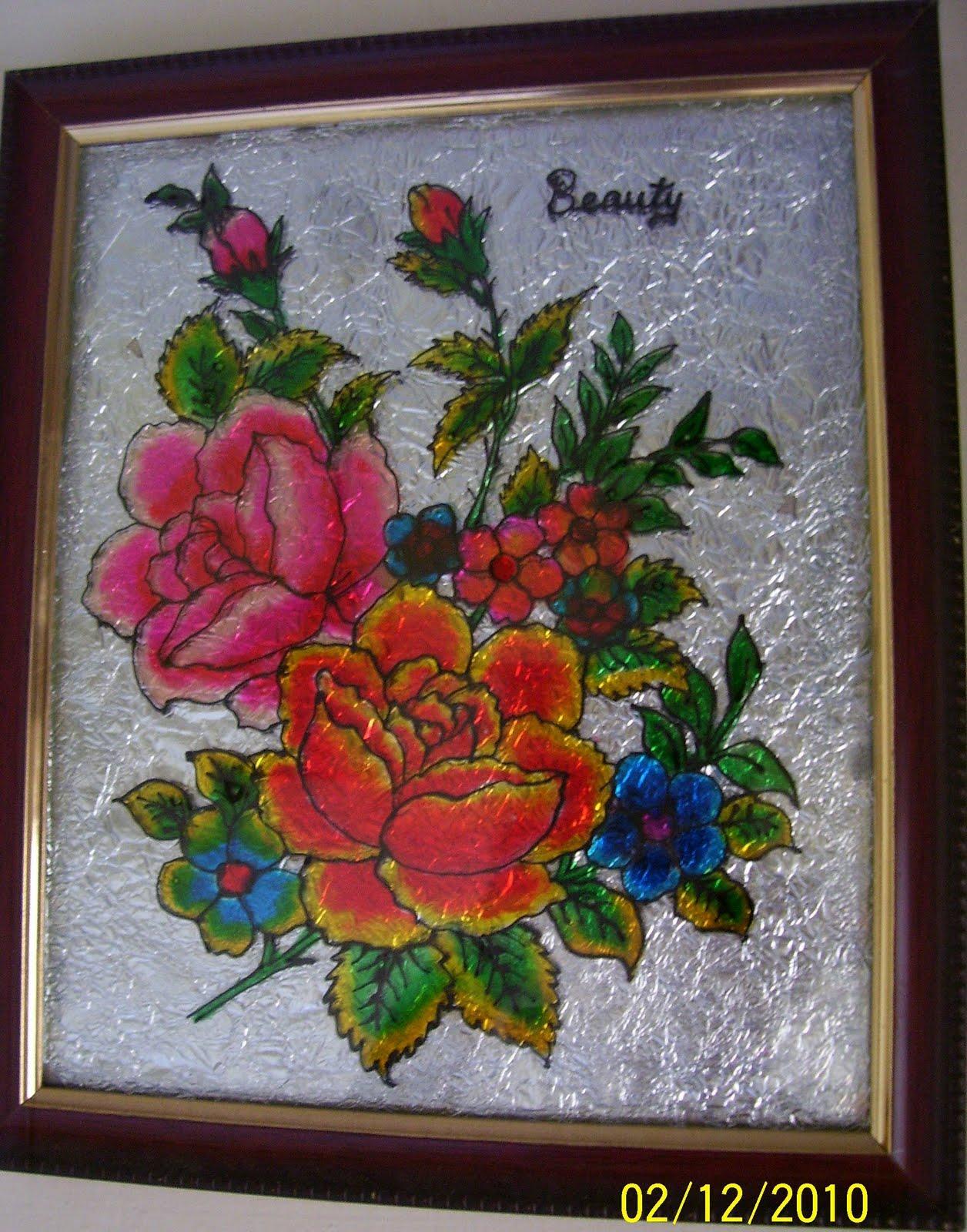 Bhuvana 39 s creative world glass painting for How do i paint glass