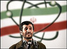 President Mahmoud Ahmadinejad at Iran's nuclear enrichment plant [Credit: Washington Post]