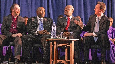 Wilberforce Address Speakers' Panel: Bishop James Jones, Bishop Wayne Malcolm, Pastor Agu Irukwu, David Cameron
