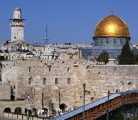 Jerusalem's Wailing Wall and Dome of the Rock