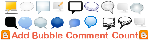 Add Bubble Comments Count using CSS in Blogger Post Title