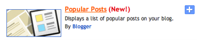 Add Popular Posts Widget in Blogger