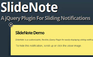 Add Slider Notification in Blogger using SlideNote