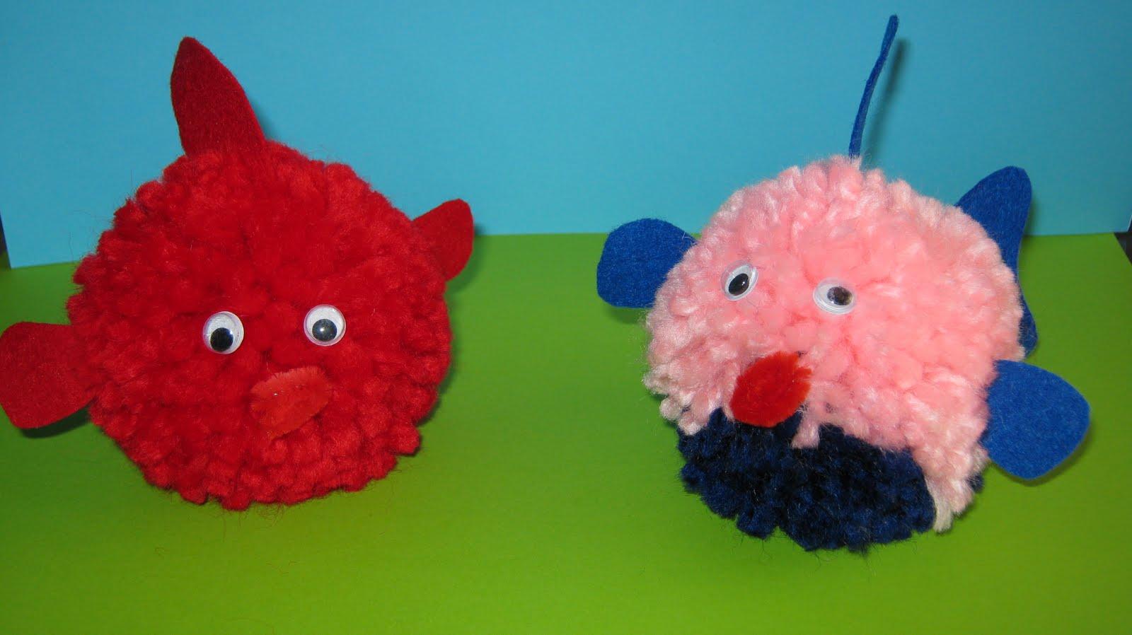 M m designs animales con pompones de lana - Manualidades en lana ...